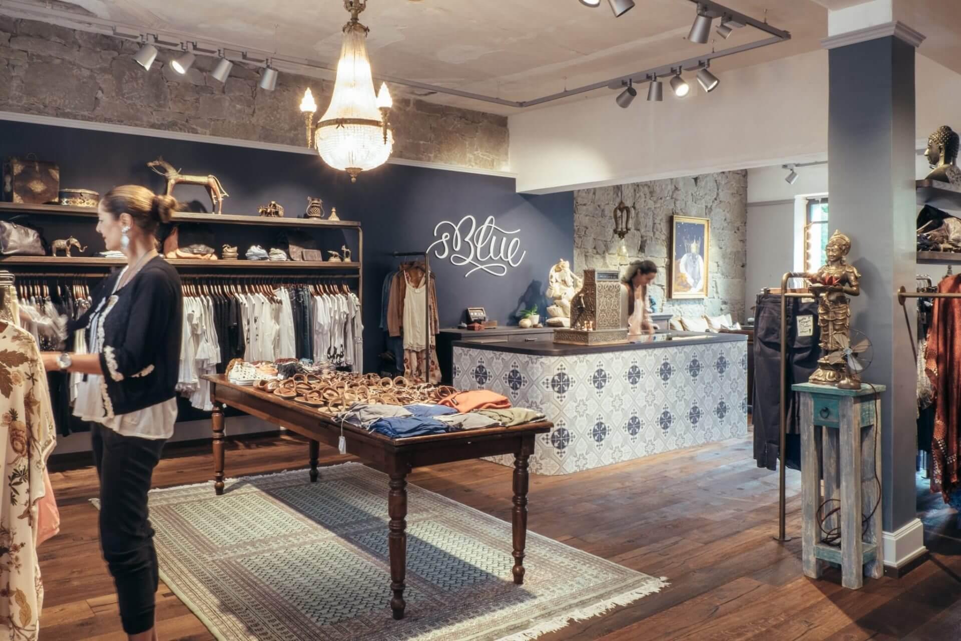 's Blue Innenansicht Kasse und Verkaufsraum