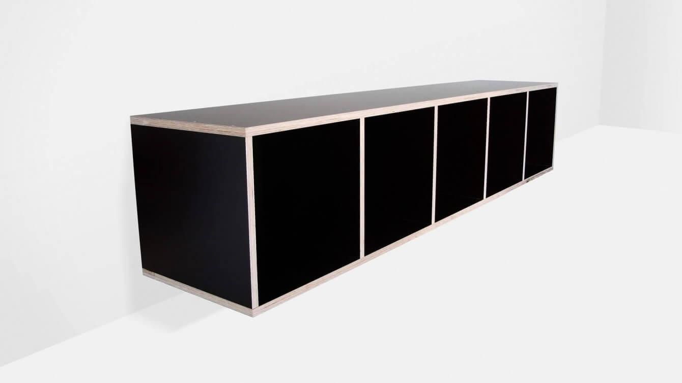 Vinyl-Regal aus beschichteten Birken-Schalungsplatten