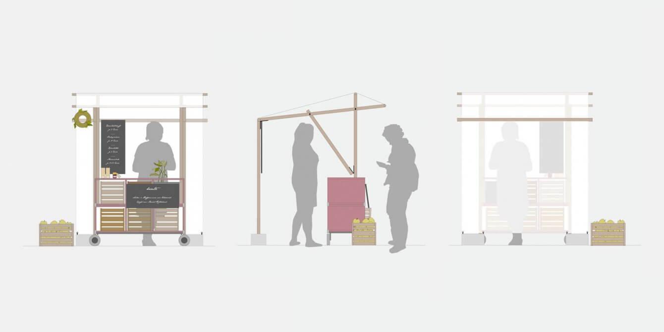 Elfi Marktstand Produktdesign