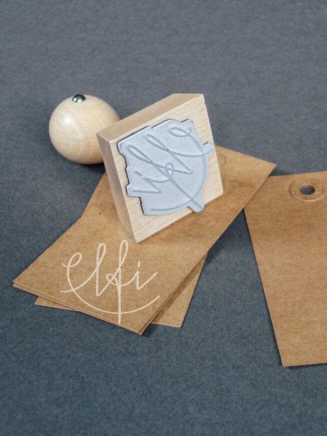 Elfi Stempel für Hang-Tag und Visitenkarte
