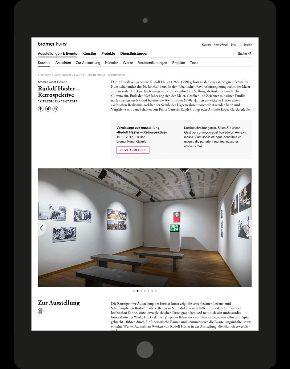 bromer kunst Detailansicht von Ausstellungen und Veranstaltungen