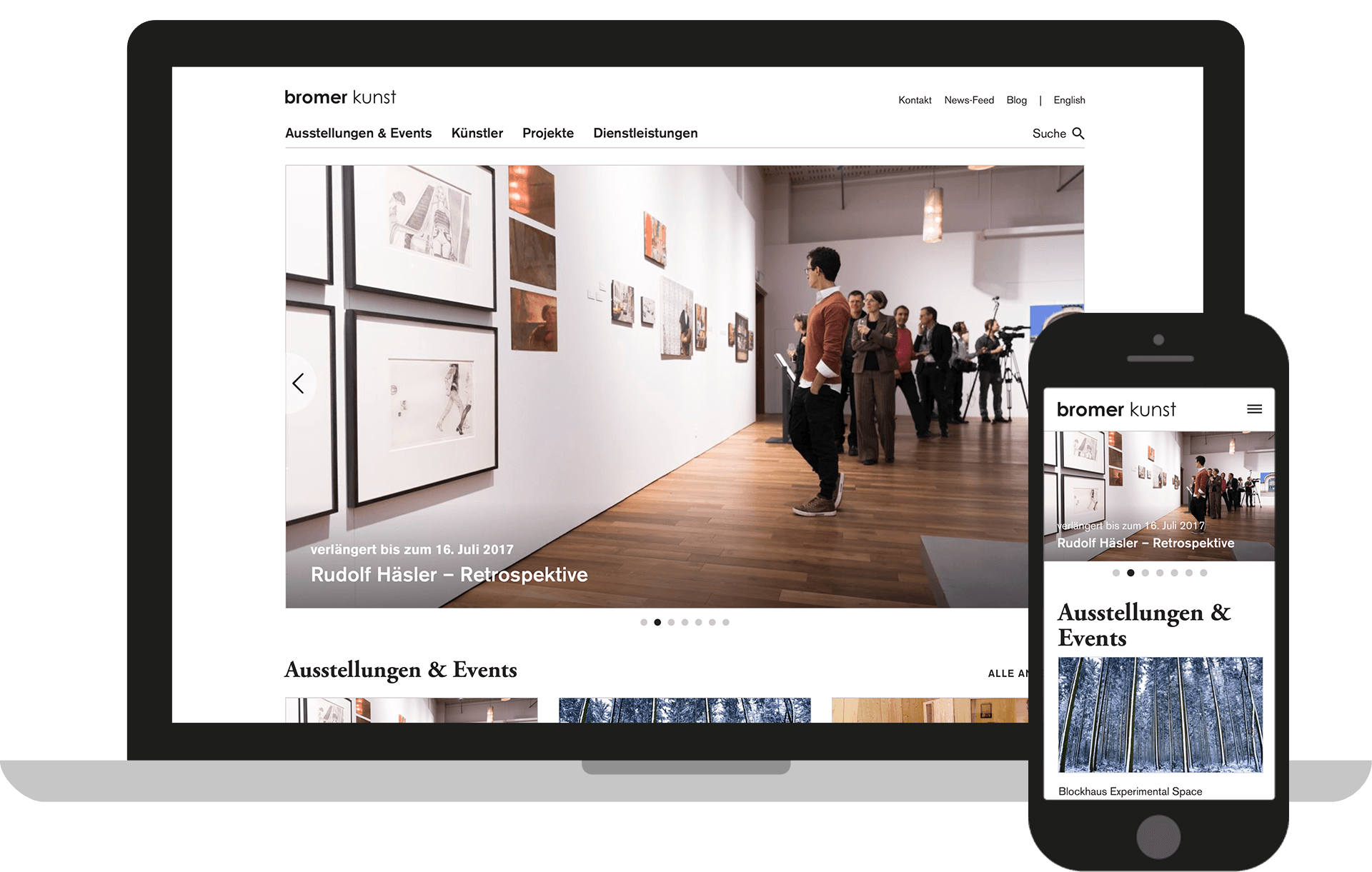 bromer kunst Corporate Website der Galerie