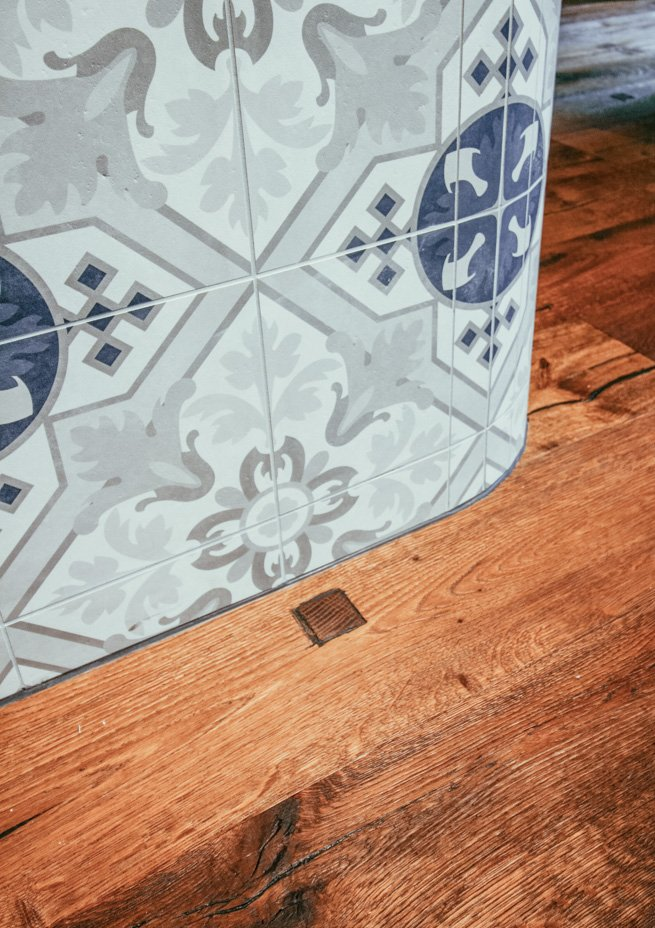 Villeroy & Boch Fliesen, Theken-Detail von Modeboutique 's Blue