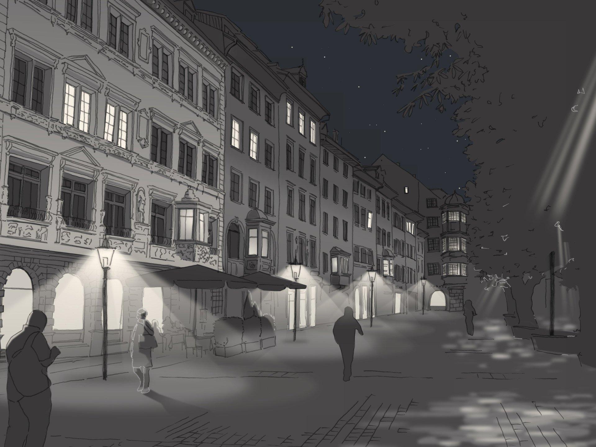 Visualisierung für Altstadtbeleuchtung Schaffhausen