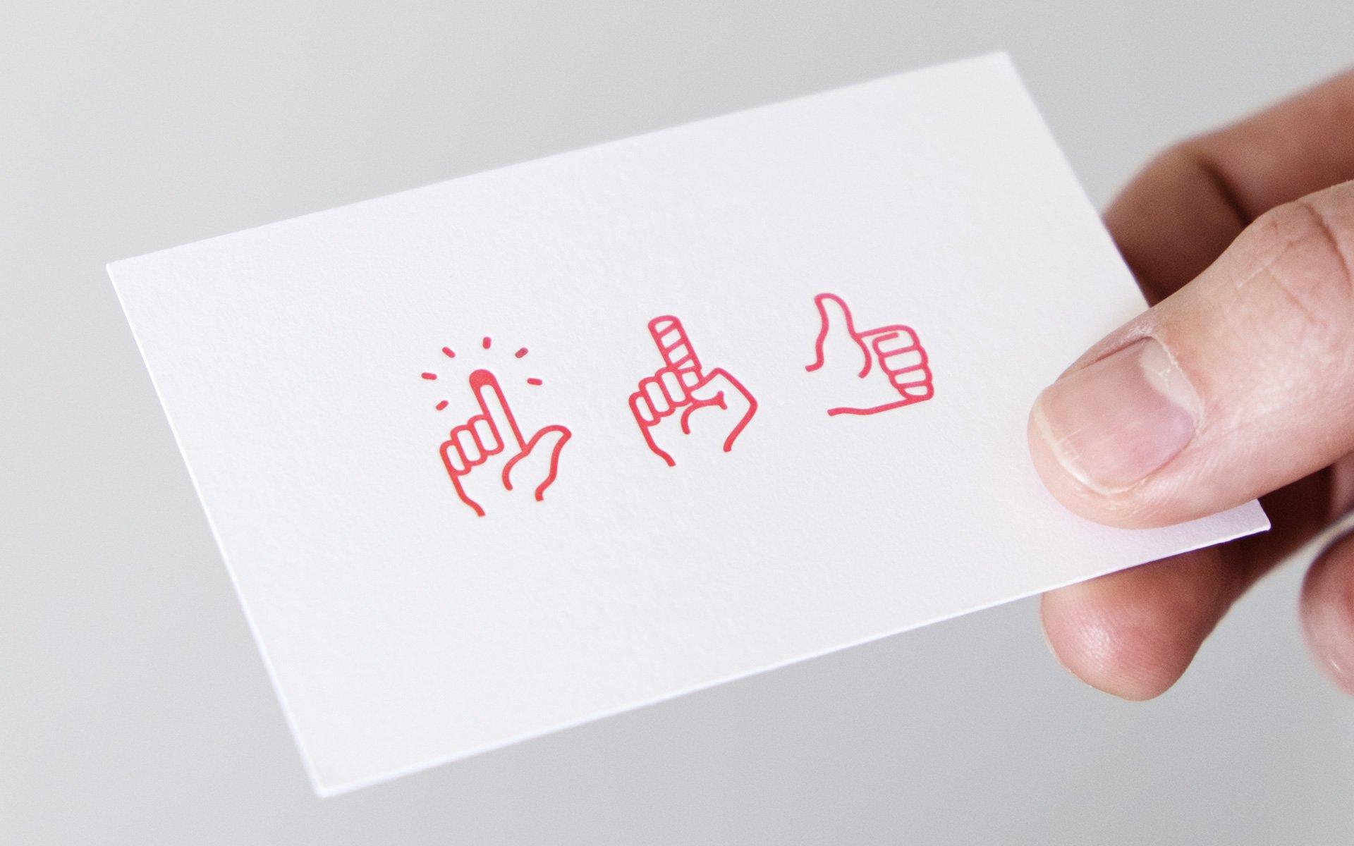 Praxis Dr. Neukirch Visitenkarte mit Logo im Letterpress-Druckverfahren gedruckt