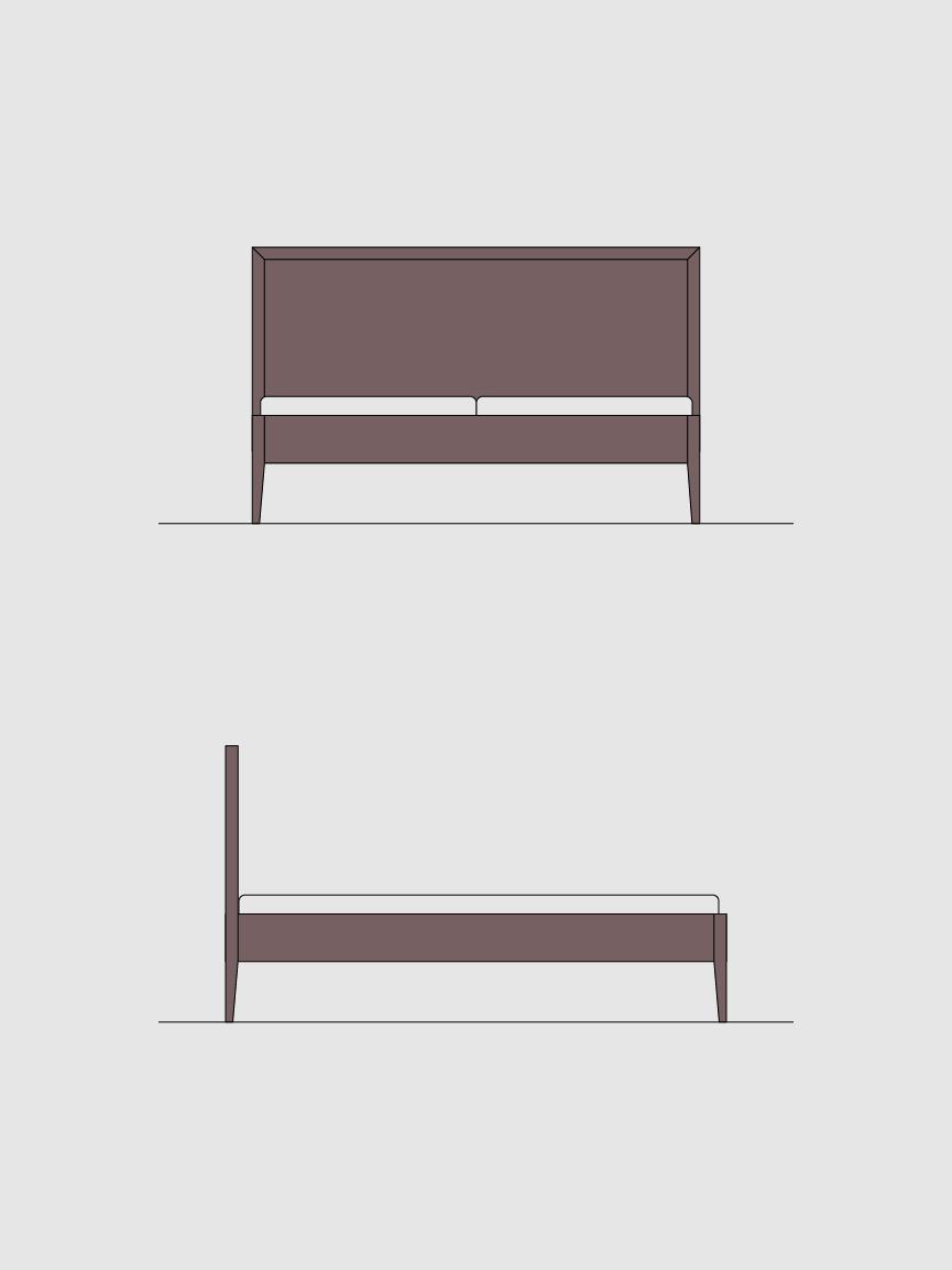 Ansichten Doppelbett UDO